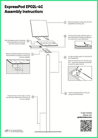 OMBEA Insights Large Floorstanding ExpressPod Instructions