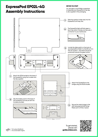 OMBEA Insights Large Wallmounted ExpressPod Instructions